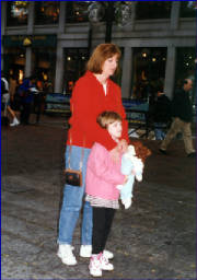 Christina with her mom, Lynne, the day before entering the hospital 9/97