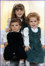 Christina with her stepsister, Sabrina and stepbrother, Mikey