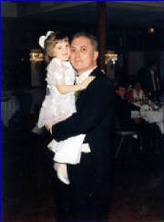Christina with her dad, Mike at his wedding 1995